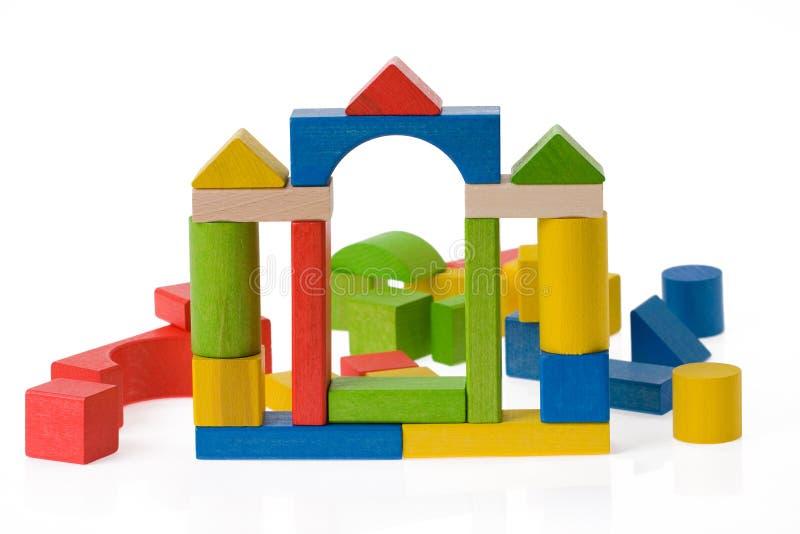Blocchetti di legno del giocattolo fotografia stock