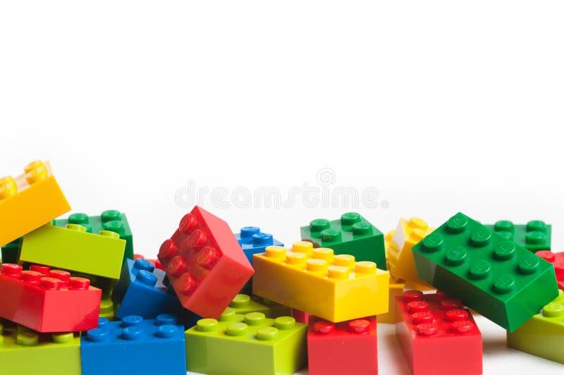 Blocchetti di Lego con lo spazio della copia immagine stock libera da diritti