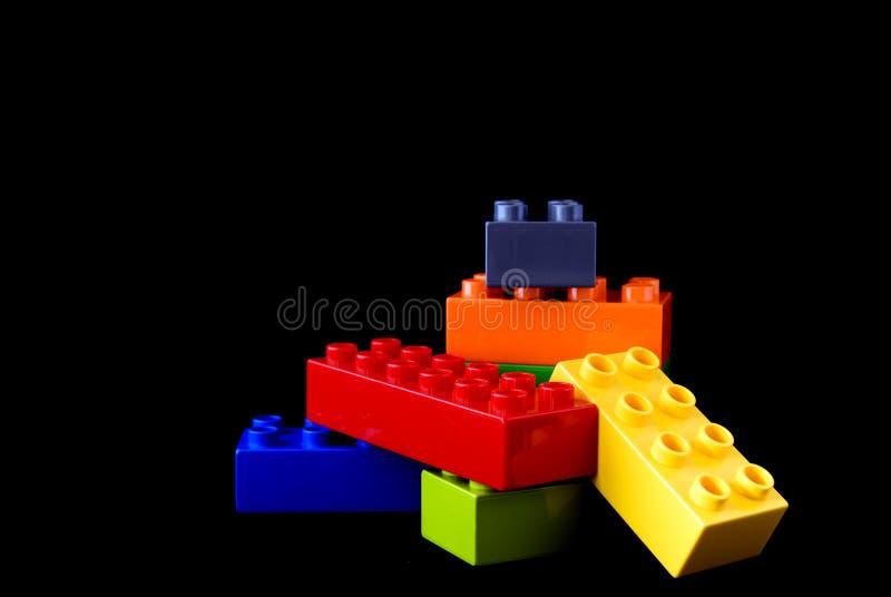 Blocchetti di lego della costruzione fotografie stock libere da diritti