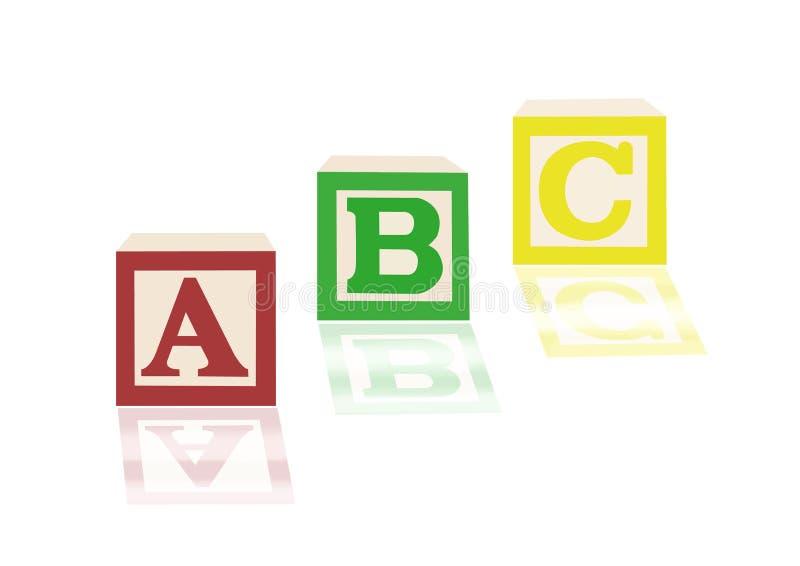 Blocchetti ed immagini di alfabeto di ABC royalty illustrazione gratis