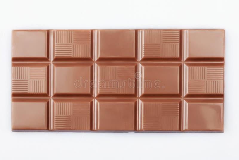 Blocchetto del cioccolato su bianco fotografia stock libera da diritti
