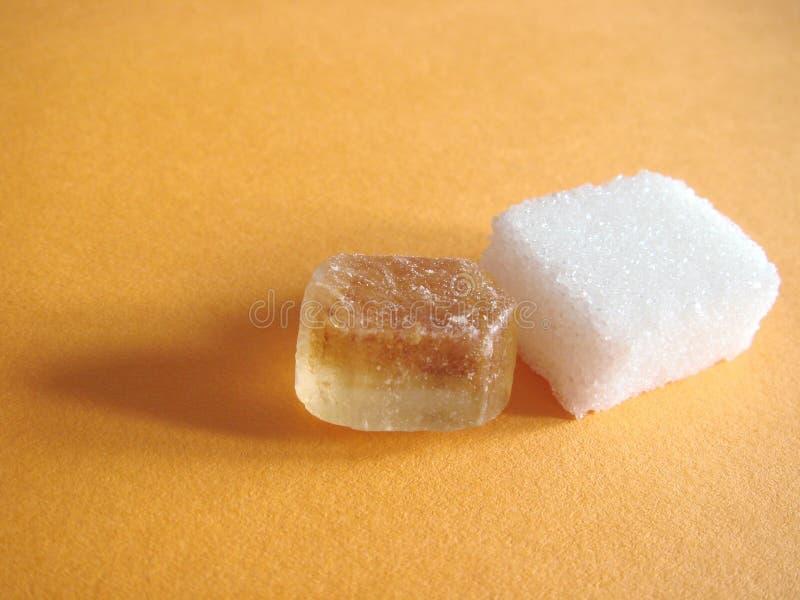 Blocchetto della caramella e dello zucchero fotografie stock libere da diritti
