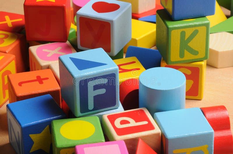 Blocchetto delle lettere fotografie stock libere da diritti