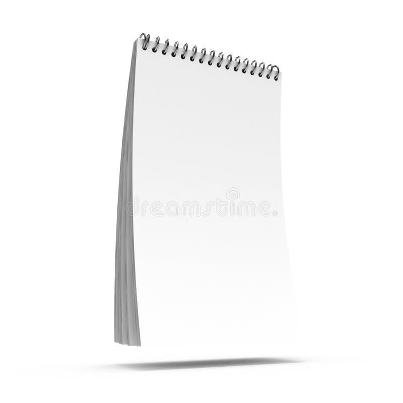Blocchetto per appunti in bianco illustrazione vettoriale