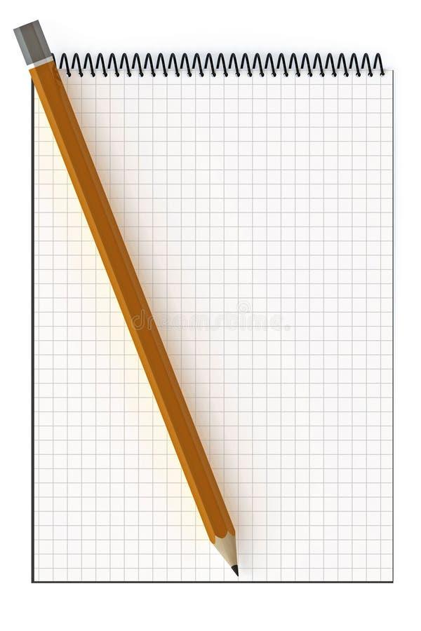 Blocchetto per appunti in bianco illustrazione di stock