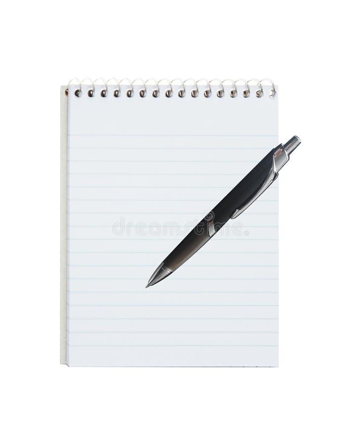 Blocchetto per appunti e penna immagini stock