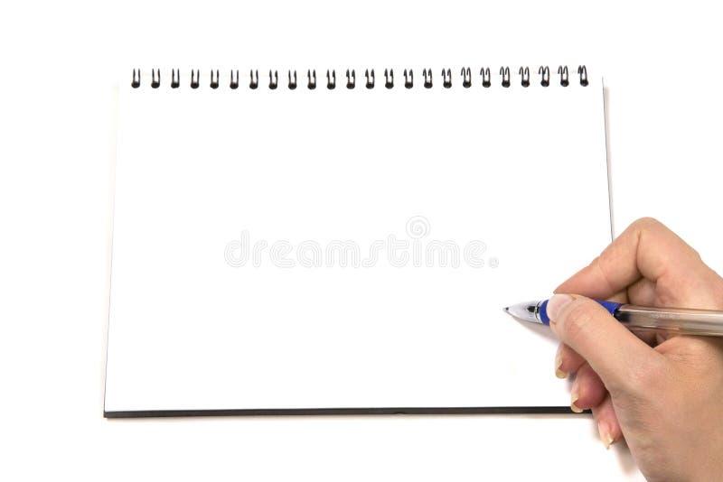 Blocchetto per appunti a spirale in bianco fotografia stock libera da diritti