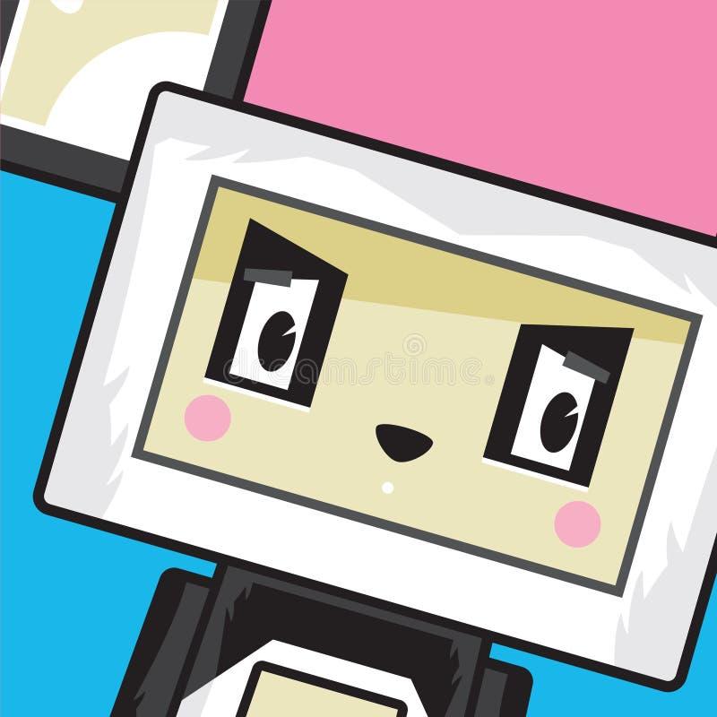 Blocchetto sveglio Panda Character del fumetto illustrazione vettoriale