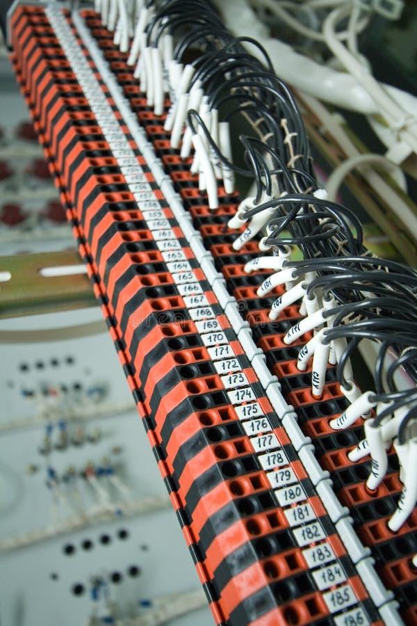 Blocchetto terminali industriale fotografia stock