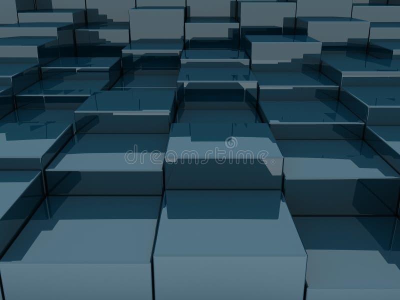 blocchi 3D illustrazione vettoriale