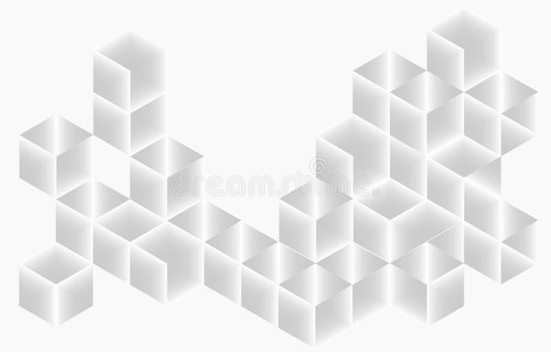 Blocchi bianchi - fondo astratto di struttura di vettore illustrazione di stock