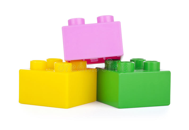 Blocchi di plastica immagine stock libera da diritti