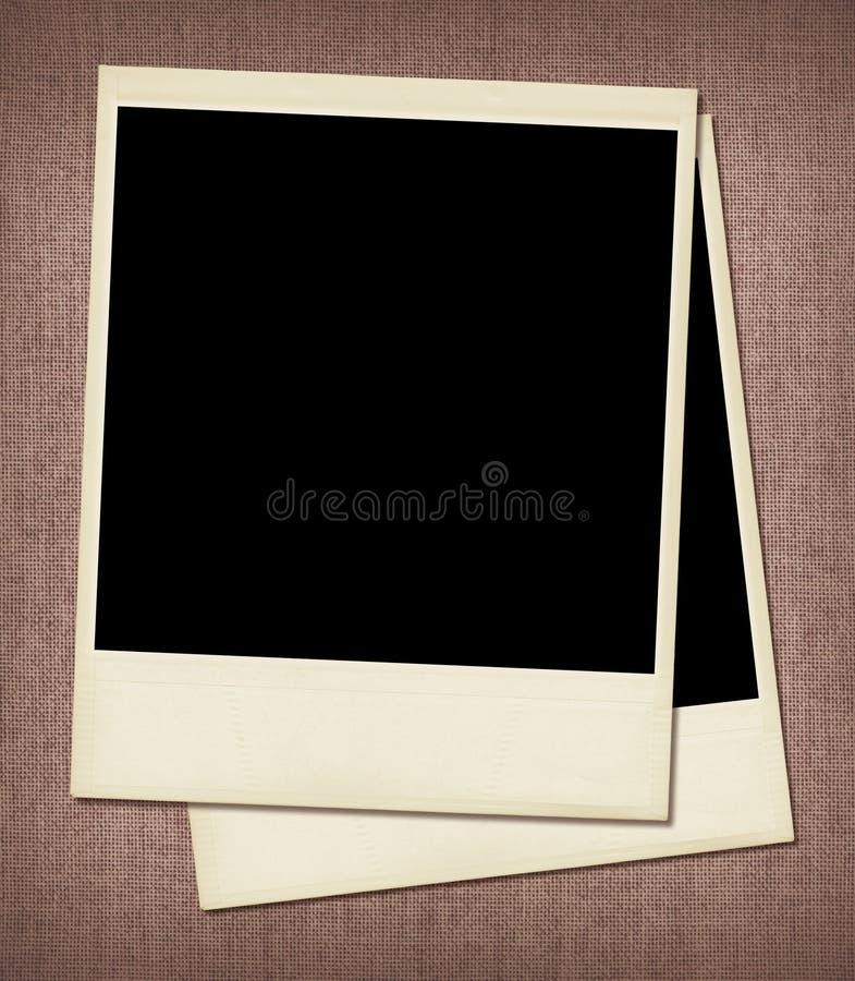 Blocchi per grafici in bianco del Polaroid immagini stock libere da diritti
