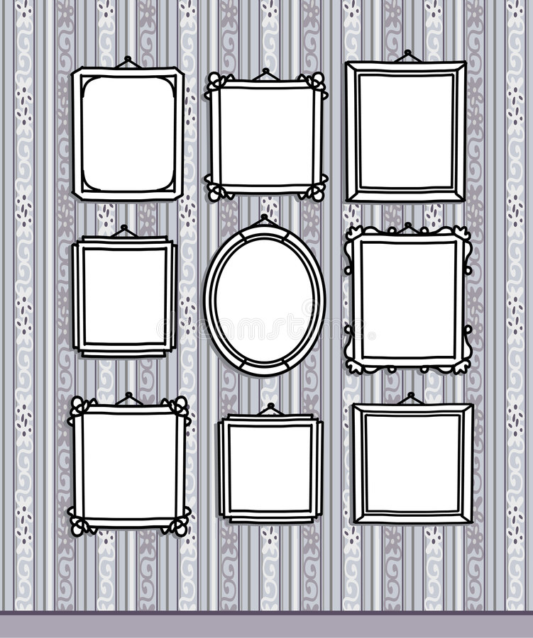 Blocchi per grafici in bianco sulla carta da parati illustrazione di stock