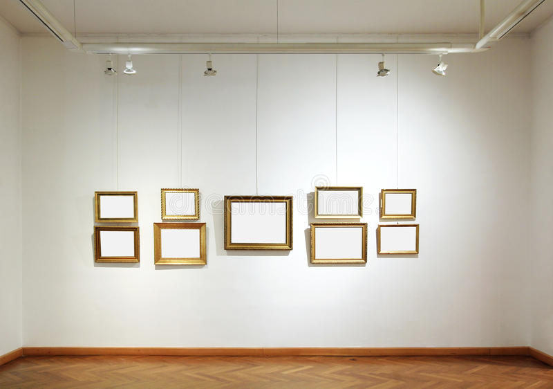 Blocchi per grafici in bianco in una galleria fotografie stock libere da diritti