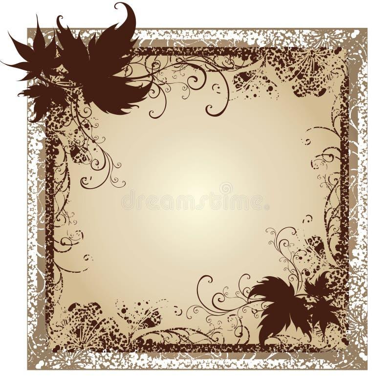 Blocchi per grafici con i fogli di autunno. Ringraziamento illustrazione vettoriale