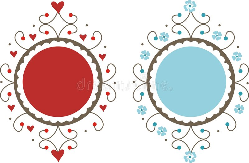 Blocchi per grafici decorativi royalty illustrazione gratis