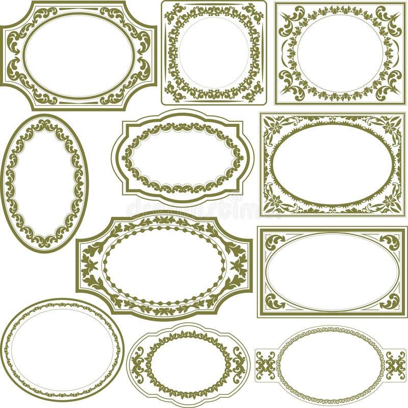 Blocchi per grafici decorativi illustrazione di stock