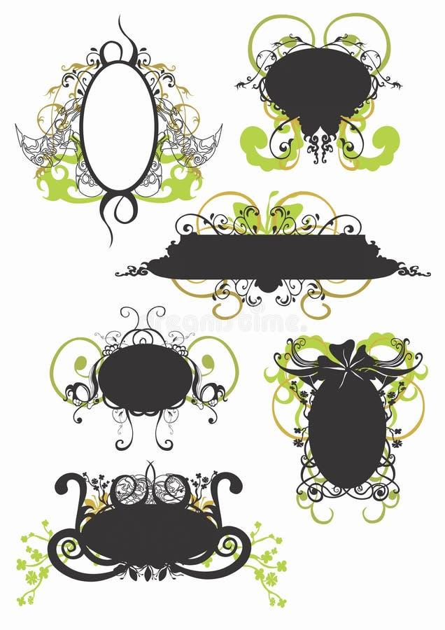 Blocchi per grafici decorativi illustrazione vettoriale