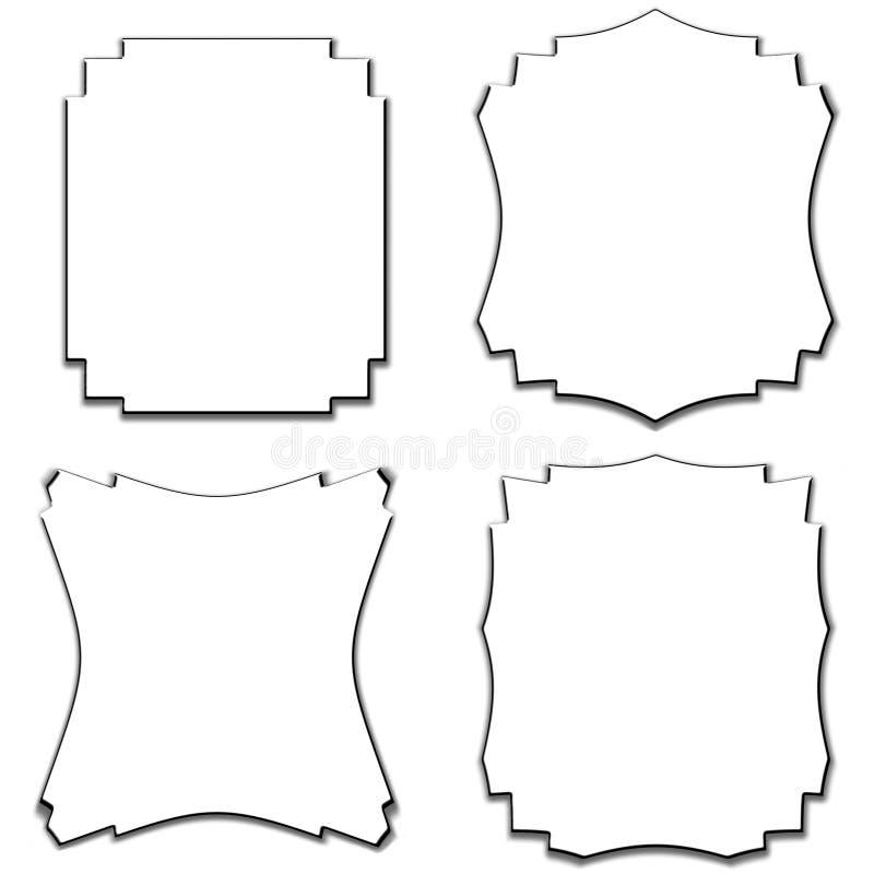 Blocchi per grafici del bordo di vettore impostati royalty illustrazione gratis