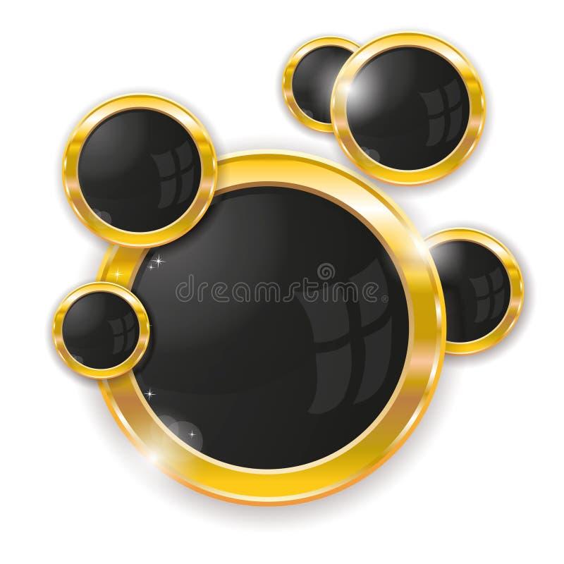 Blocchi per grafici del cerchio dell'oro royalty illustrazione gratis