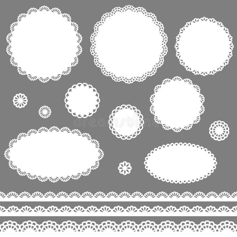 Blocchi per grafici del merletto illustrazione di stock