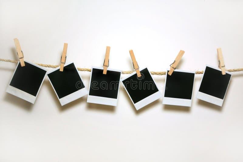 Blocchi per grafici del Polaroid dell'annata fotografia stock libera da diritti