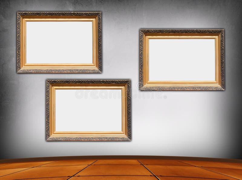 Blocchi per grafici dell'annata nella stanza vuota illustrazione di stock