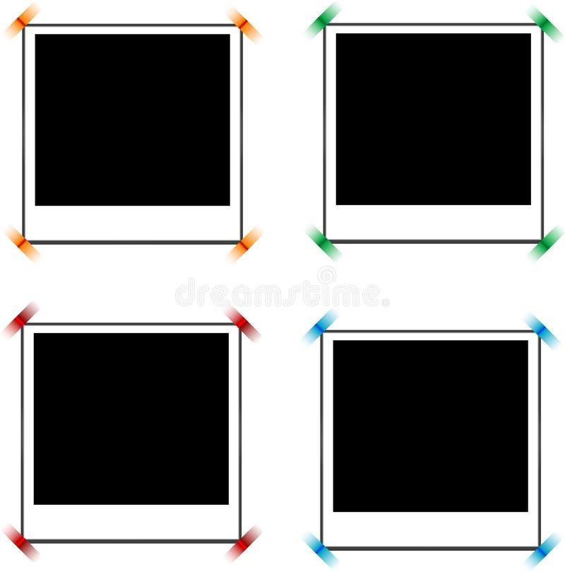 Blocchi per grafici della foto con le modifiche illustrazione vettoriale