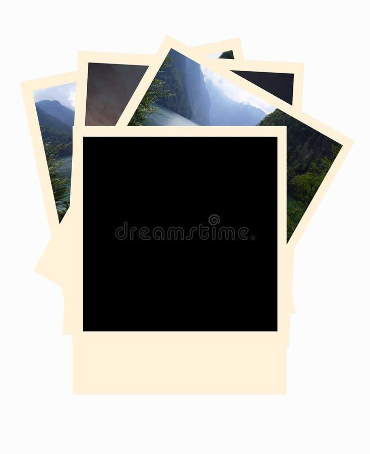 Blocchi per grafici della foto del Polaroid illustrazione di stock