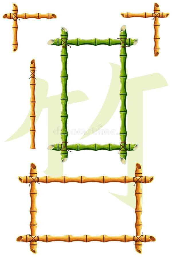 Blocchi per grafici di bambù illustrazione di stock