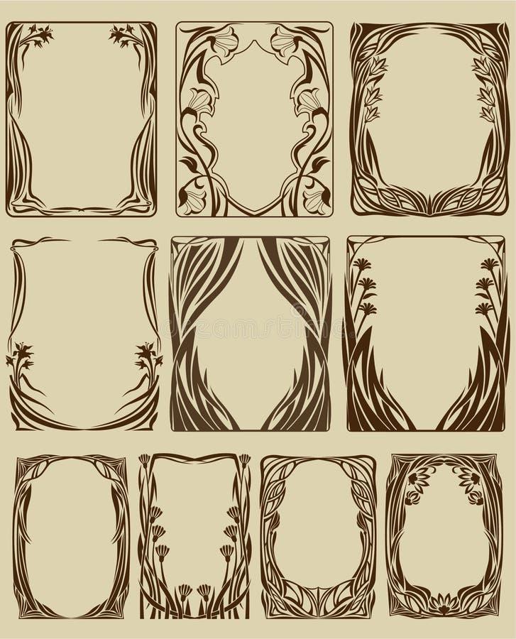 Blocchi per grafici di Nouveau di arte royalty illustrazione gratis