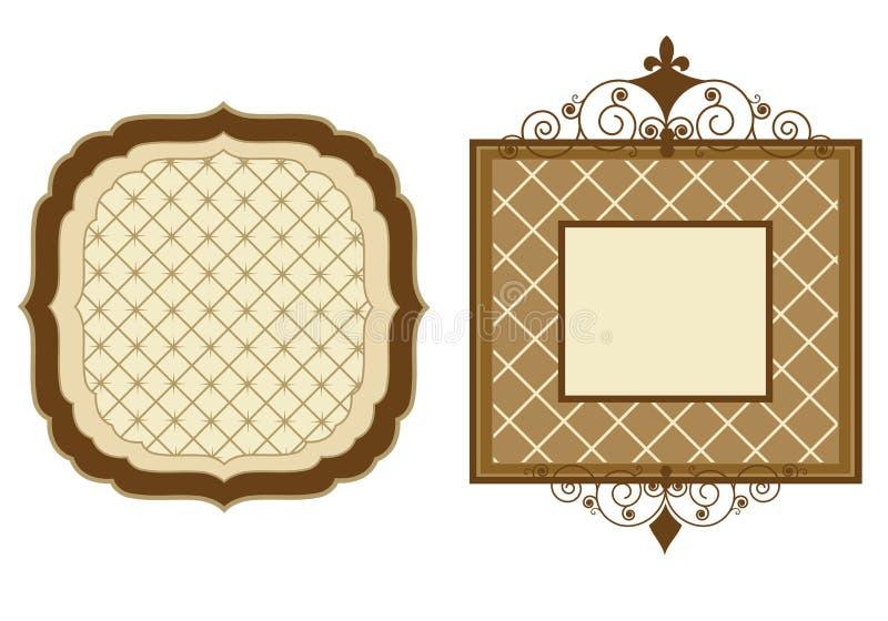 Blocchi per grafici di Patterened illustrazione di stock