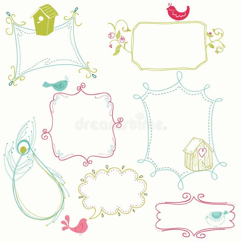 Blocchi per grafici dolci di Doodle illustrazione vettoriale