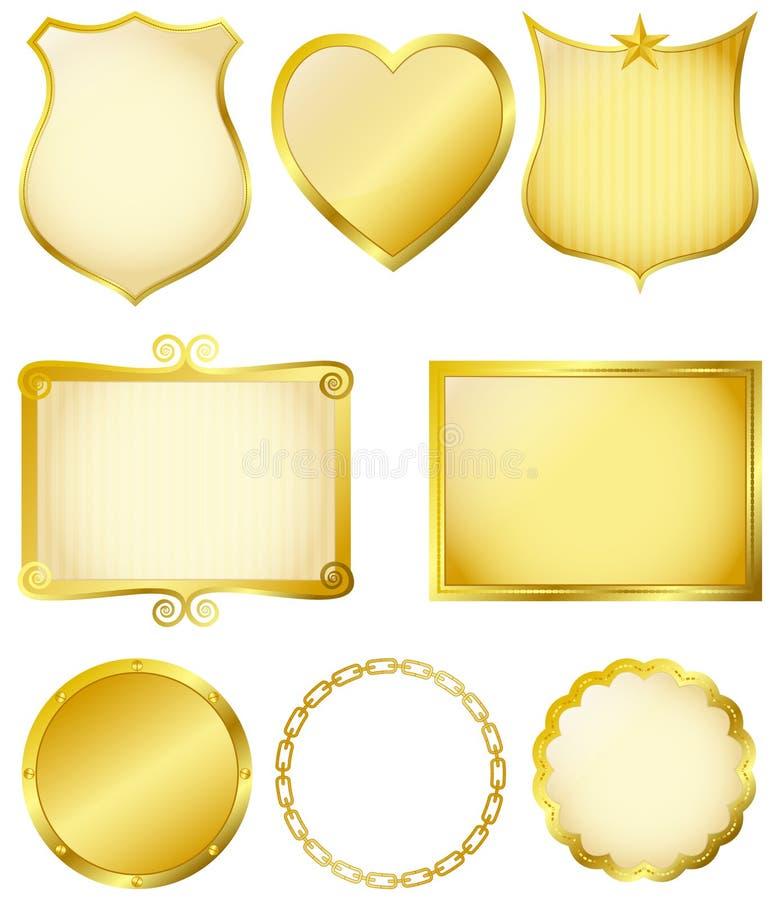 Blocchi per grafici dorati royalty illustrazione gratis
