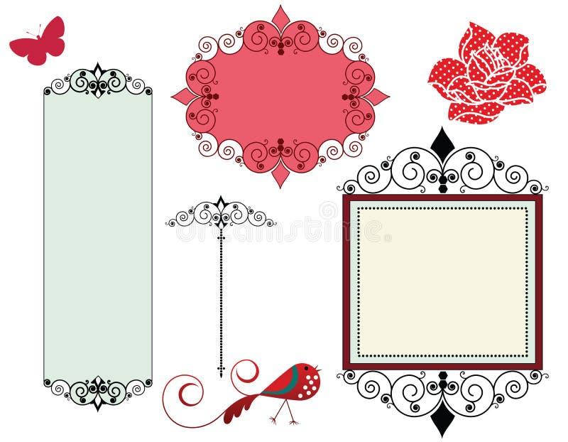 Blocchi per grafici ed elementi di disegno illustrazione di stock