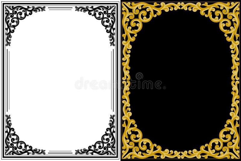 Blocchi per grafici floreali dell'annata illustrazione vettoriale