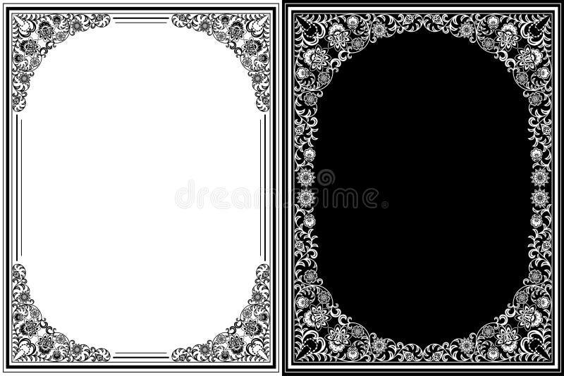 Blocchi per grafici floreali dell'annata royalty illustrazione gratis