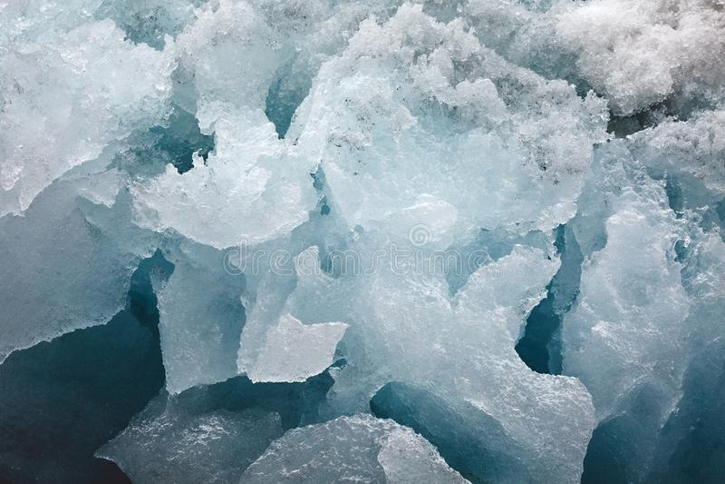 Blocco di ghiaccio del ghiacciaio immagine stock libera da diritti