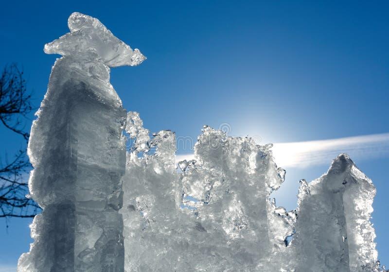 Blocco di ghiaccio glaciale del sole immagine stock