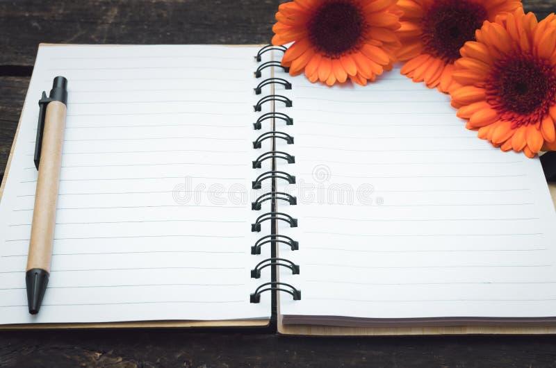 Blocco note della pagina in bianco immagini stock libere da diritti