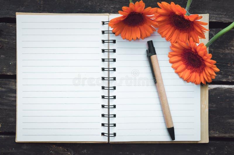 Blocco note della pagina in bianco fotografia stock