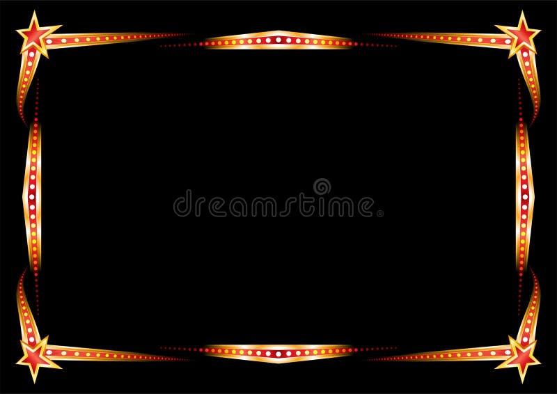 Blocco per grafici al neon illustrazione di stock