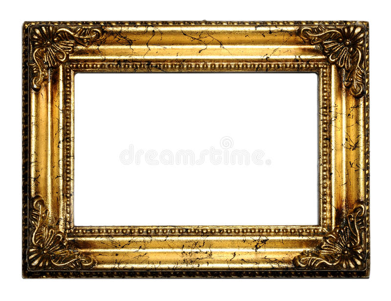 Blocco per grafici antico dorato fotografie stock libere da diritti