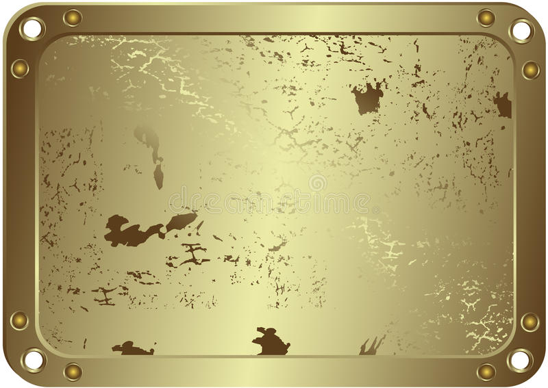 Blocco per grafici argenteo metallico di Grunge (vettore) illustrazione vettoriale