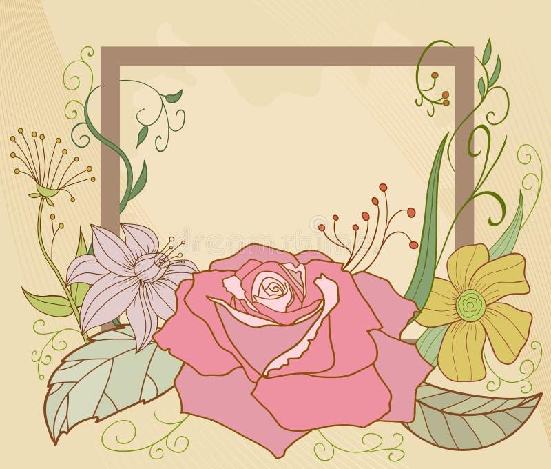 Blocco per grafici astratto del fiore illustrazione di stock