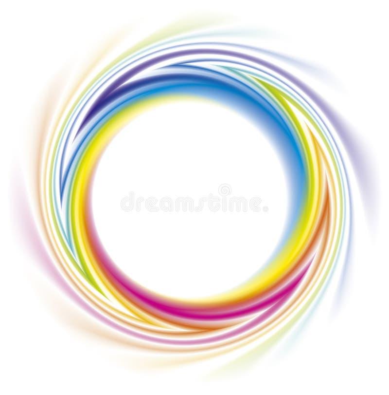Blocco per grafici astratto dello spettro del Rainbow illustrazione vettoriale