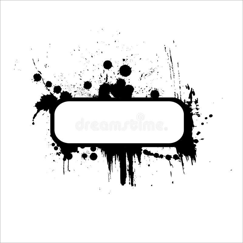 Blocco per grafici astratto dello splatter della vernice royalty illustrazione gratis