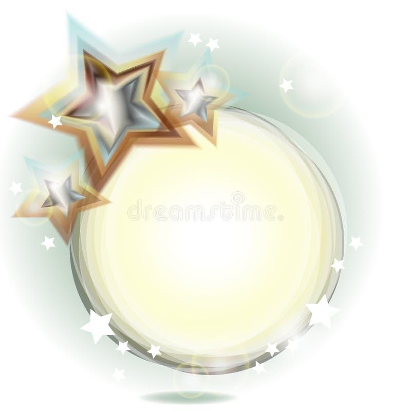 Blocco per grafici astratto di festa con le stelle royalty illustrazione gratis