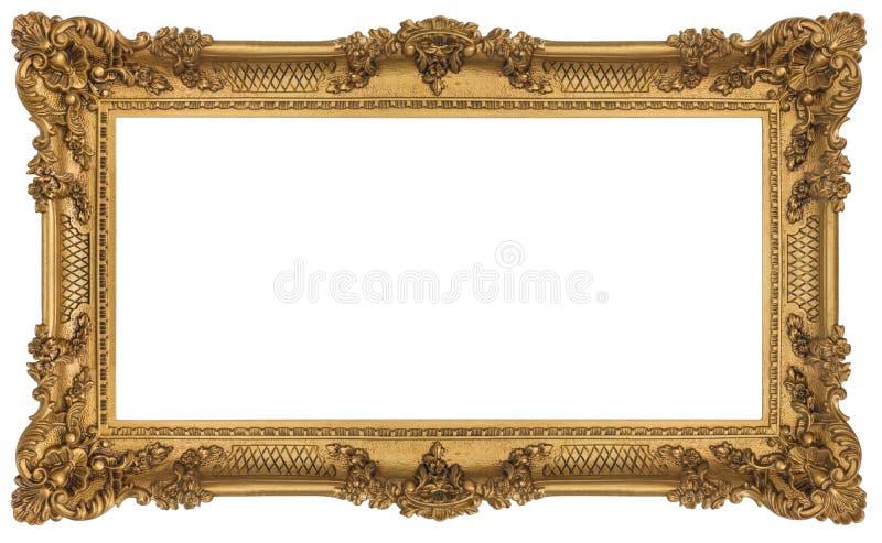 Blocco per grafici barrocco dorato ricco fotografia stock